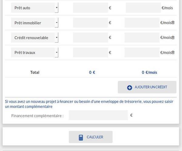 Rachat de credit conso simulation